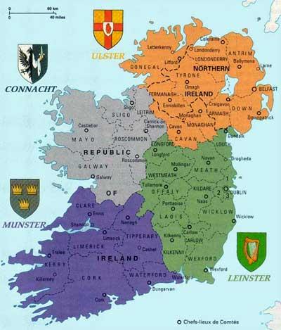 Irlande : Carte d identit - m